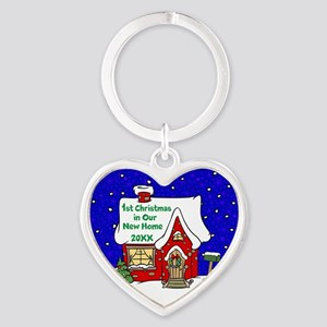 1st Christmas in Our New Home Keychains