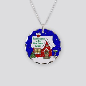 1st Christmas in Our New Home Necklace