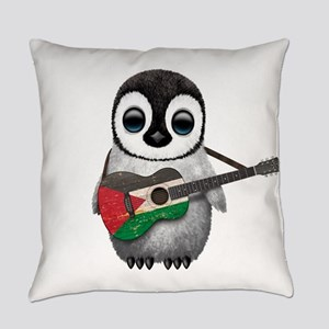 Baby Penguin Playing Palestinian Flag Guitar Every