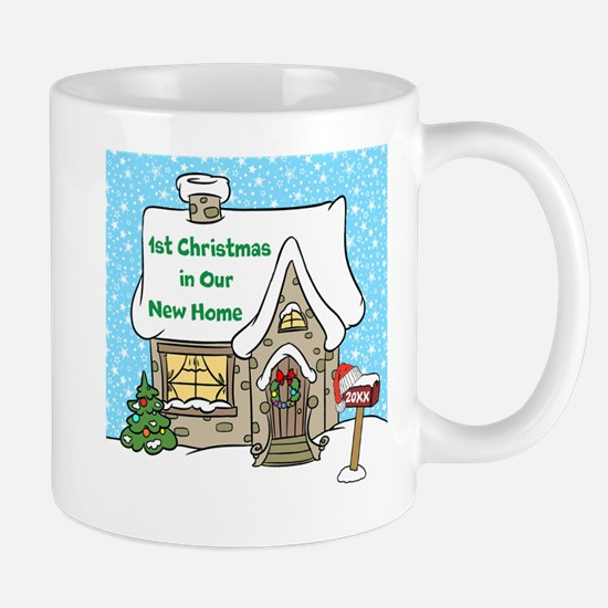 1st Xmas in Our New Home Mugs