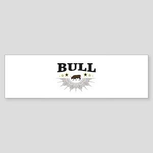 brown bull logo art Bumper Sticker