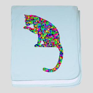 Primsatic Rainbow Cleaning Cat baby blanket