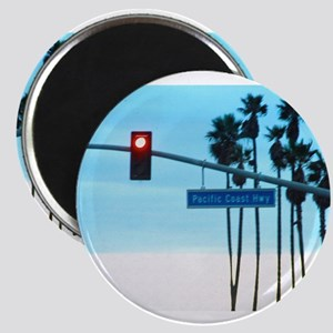 Pacific Coast Highway Sign Califo Magnets