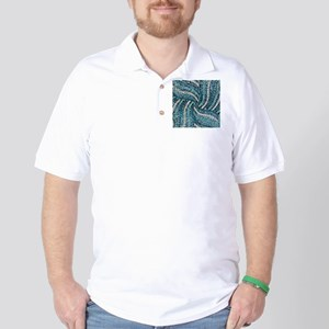 bohemian crystal teal turquoise Golf Shirt