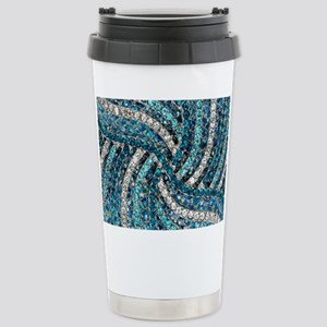 bohemian crystal teal t Stainless Steel Travel Mug