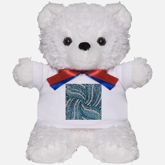 bohemian crystal teal turquoise Teddy Bear
