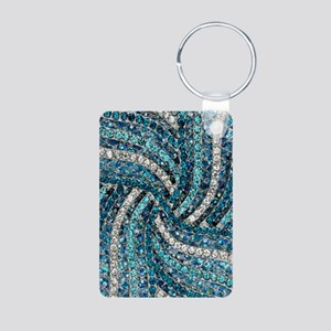 bohemian crystal teal turquoise Keychains