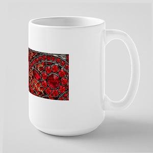 bohemian gothic red rhinestone Mugs