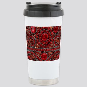 bohemian gothic red rhi Stainless Steel Travel Mug
