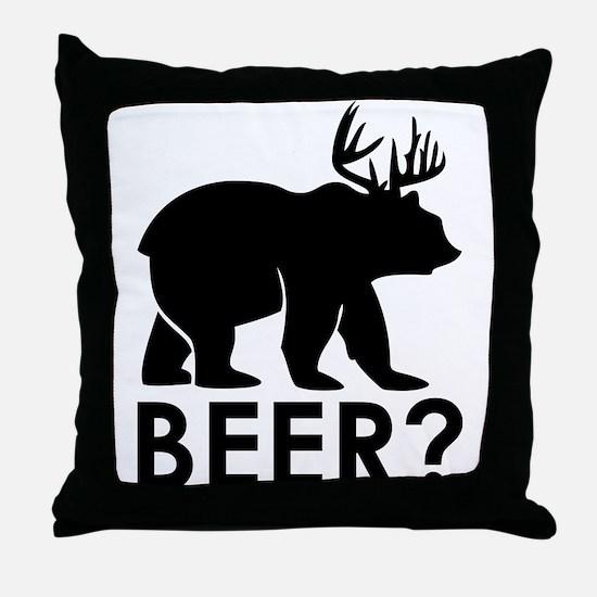 Unique Beer Throw Pillow