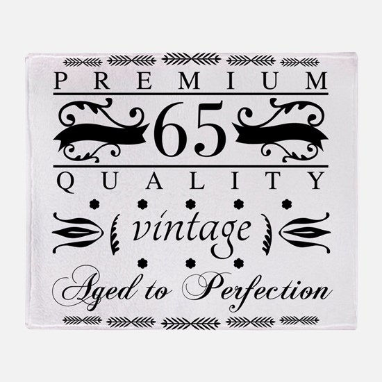 Premium 65th Birthday Throw Blanket