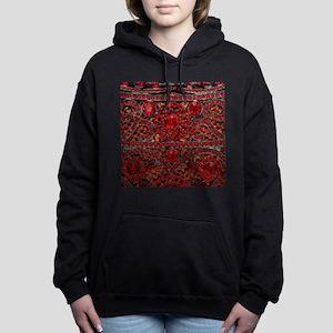 bohemian gothic red rhin Women's Hooded Sweatshirt