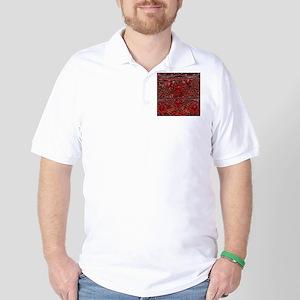 bohemian gothic red rhinestone Golf Shirt