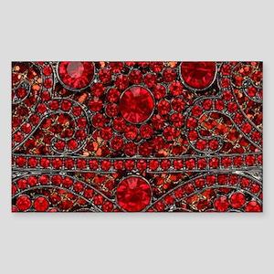 bohemian gothic red rhinestone Sticker