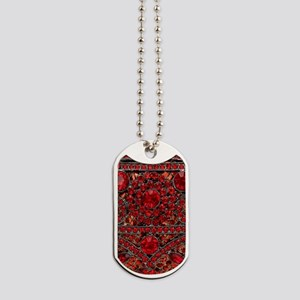 bohemian gothic red rhinestone Dog Tags