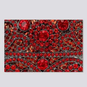 bohemian gothic red rhine Postcards (Package of 8)