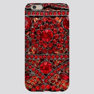 bohemian gothic red rhinesto iPhone 6/6s Slim Case