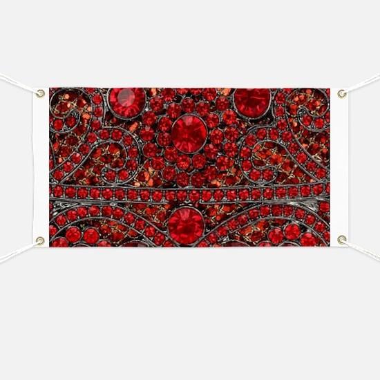 bohemian gothic red rhinestone Banner