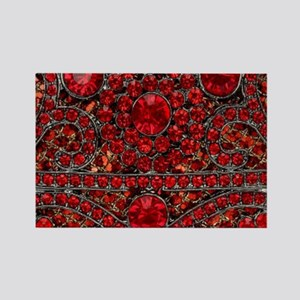 bohemian gothic red rhinestone Magnets