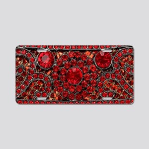 bohemian gothic red rhinest Aluminum License Plate