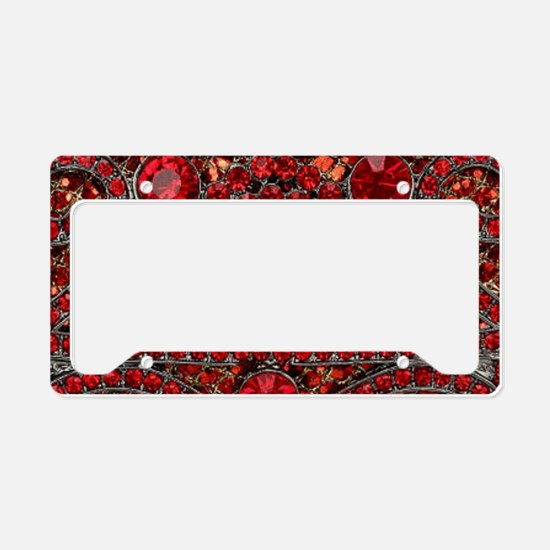 bohemian gothic red rhineston License Plate Holder