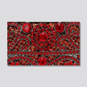 bohemian gothic red rhinestone Car Magnet 20 x 12