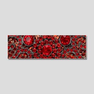 bohemian gothic red rhinestone Car Magnet 10 x 3