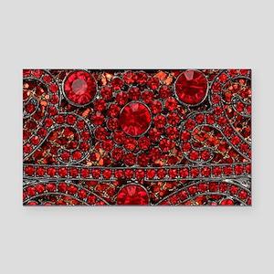 bohemian gothic red rhineston Rectangle Car Magnet