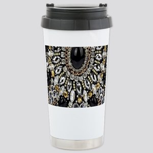 rhinestone art deco gat Stainless Steel Travel Mug