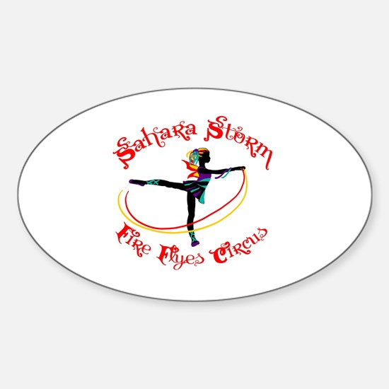 Funny Circus arts Sticker (Oval)