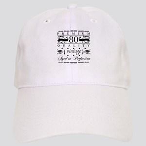 Premium 80th Birthday Cap