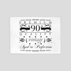 Premium 90th Birthday 5'x7'Area Rug