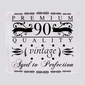 Premium 90th Birthday Throw Blanket