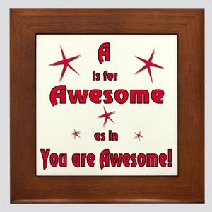 A Is For Awesome Framed Tile