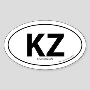 Kazakhstan country bumper sticker -White (Oval)