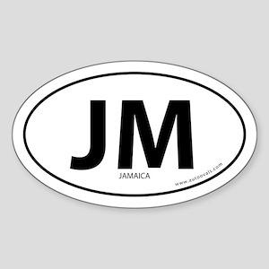 Jamaica country bumper sticker -White (Oval)
