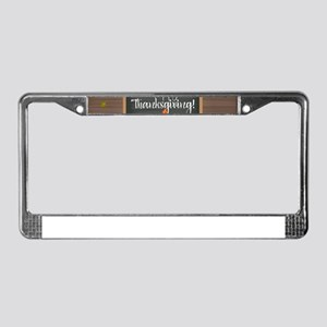 Happy Thanksgiving License Plate Frame