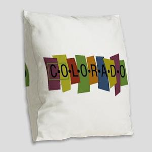 Colorado Burlap Throw Pillow