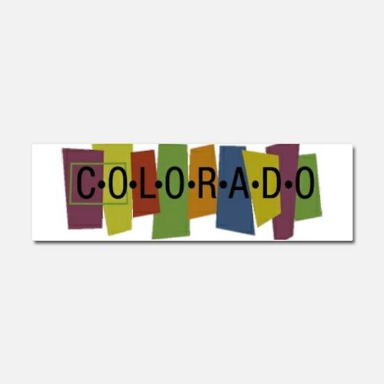 Colorado Car Magnet 10 x 3