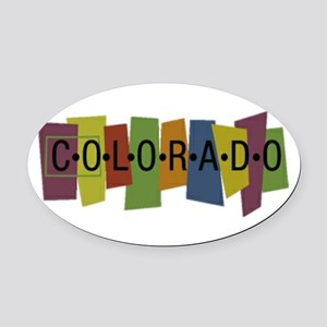 Colorado Oval Car Magnet