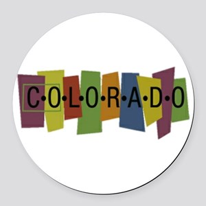 Colorado Round Car Magnet