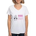 What Would Martha Do Women's V-Neck T-Shirt