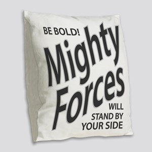 Mighty Forces Burlap Throw Pillow