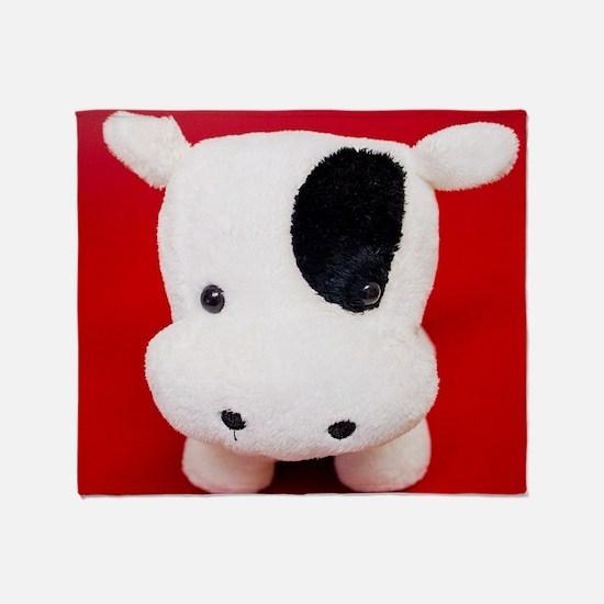 Cute Plush cow Throw Blanket