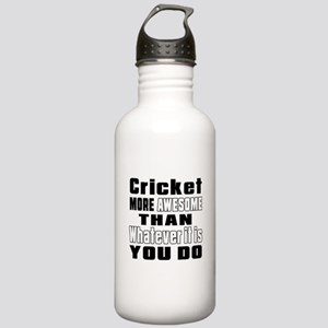 Cricket More Awesome T Stainless Water Bottle 1.0L