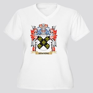 Hawking Coat of Arms - Family Cr Plus Size T-Shirt