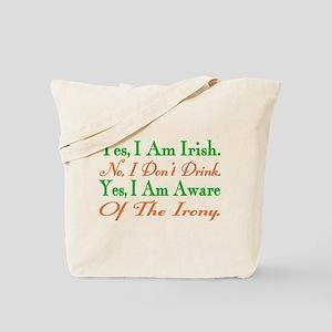 Ironic Sober Irish Tote Bag