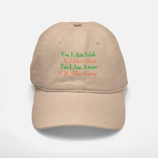 Ironic Sober Irish Baseball Baseball Cap