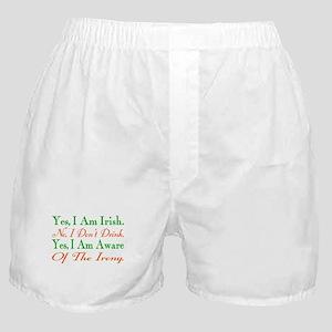 Ironic Sober Irish Boxer Shorts