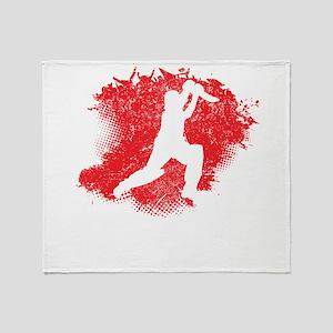 Cricket Paint Splatter Throw Blanket